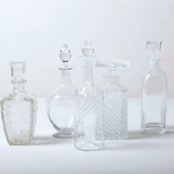 Vintage Likör- und Whiskeyflaschen, Kristallglas