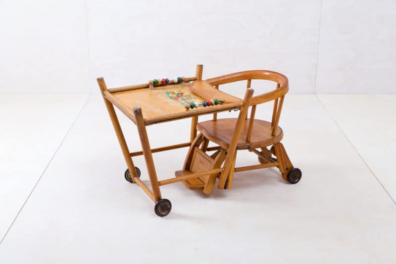 wooden furniture, high chairs & toys for rent