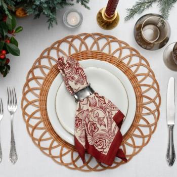 geschirrsets mieten hygienisch sauber, dekoration, kerzen weihnachten, korb platzmatte mieten