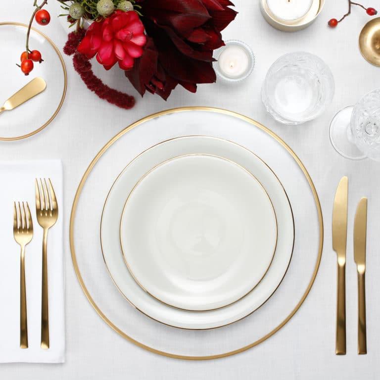 tablescape box mieten, Dekoration und Geschirr fertig für zu Hause oder das Büro