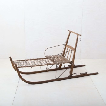 Hire Christmas decorations. Historical Winter Sleigh Snow Decoration