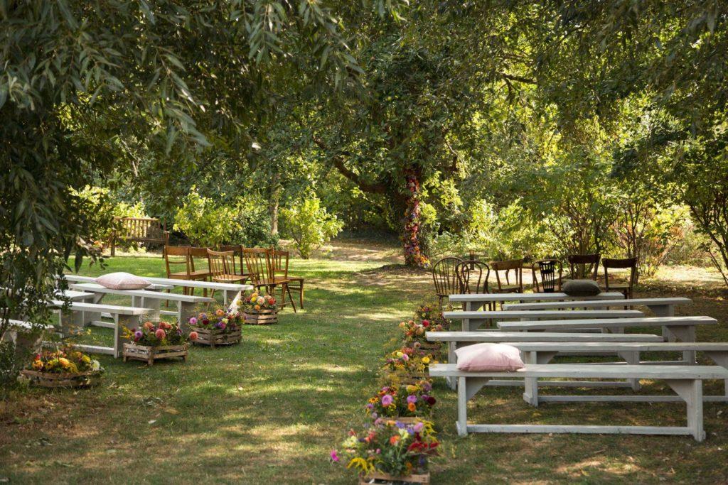 Sitzgelegenheiten für Hochzeitsgäste